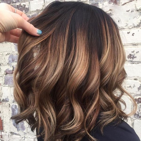 Awesome Dark Brown Balayage Hairstyles 3