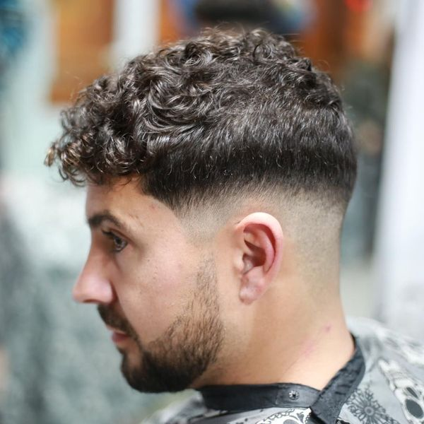 Blowout Haircut for Guys with Curly Hair 1