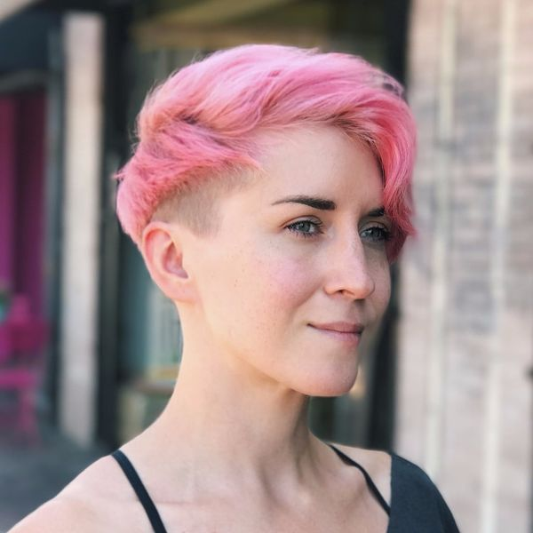 Bright Hair Colors to Try on Short Hair 3
