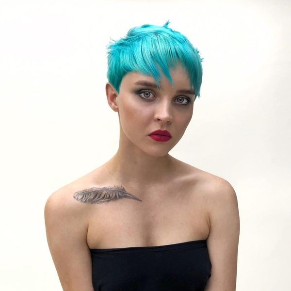 Bright Hair Colors to Try on Short Hair 4