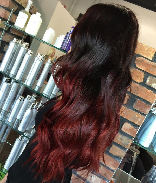 Burgundy Highlights on Brown Hair 2