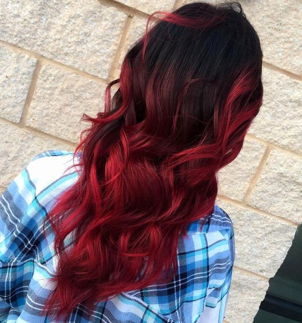 Curly Burgundy Red Hair Styles 3