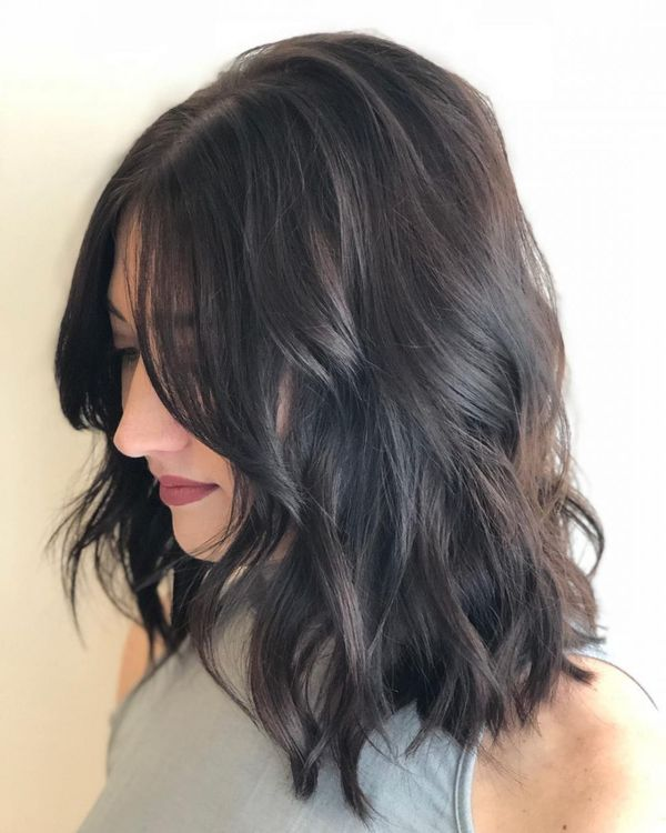 Cute Long Layered Bobs With Bangs 3