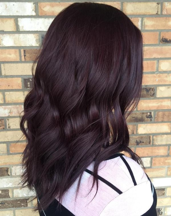 Deep Burgundy Brown Hair Color 1