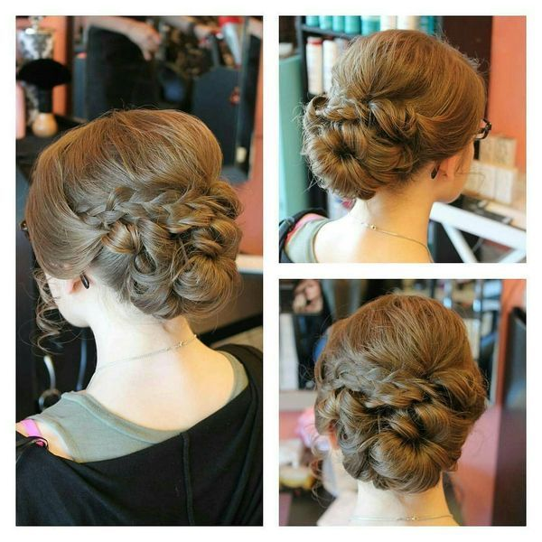 Elegant prom updos with braids 2