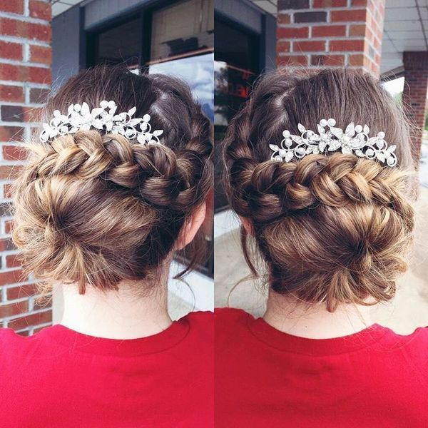 Elegant prom updos with braids 3