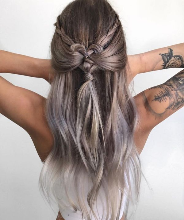 Fancy long braids for thick hair 3