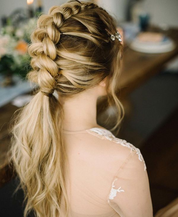 Formal braided hairstyles for girls with long hair 5
