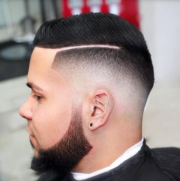 Great ideas of male haircut with line up 4