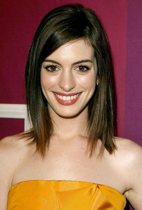 How about long bob with side bangs 4