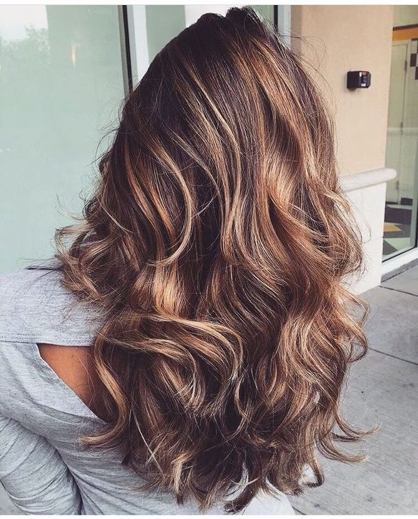 Inspiring pictures of long brown hair with highlights 1