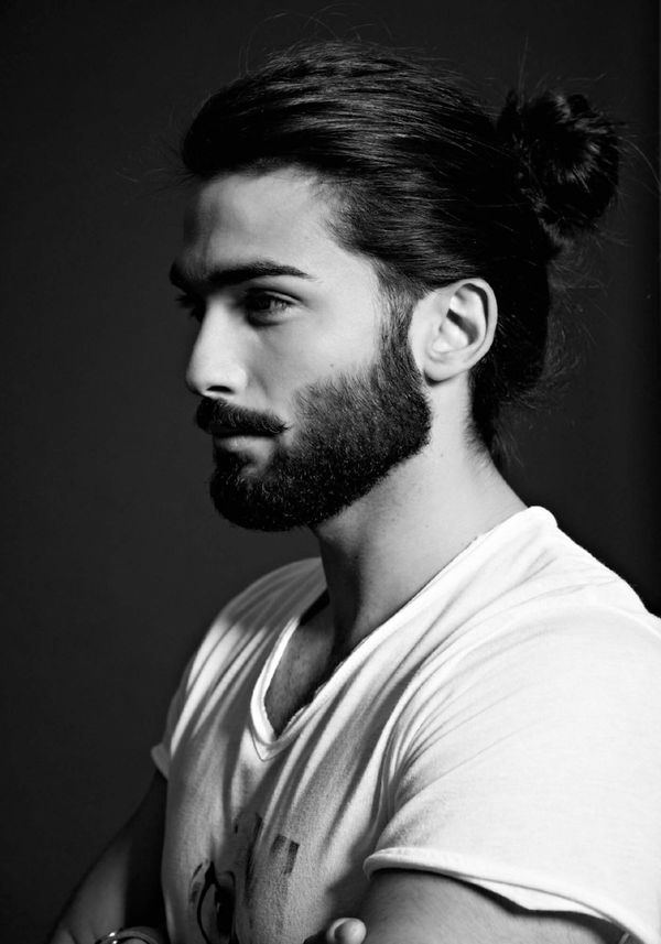 Long Slicked Back Hair for Men 3