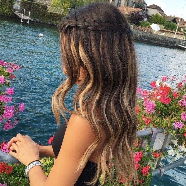 Loose braid hairstyles for very long hair 2
