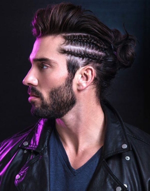 Male Braided Top Knot Hairstyles 1