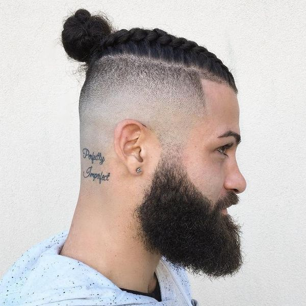 Male Braided Top Knot Hairstyles 2