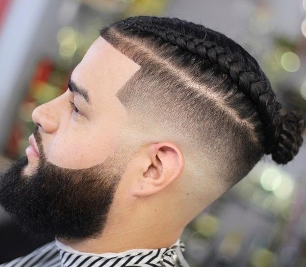 Male Braided Top Knot Hairstyles 3
