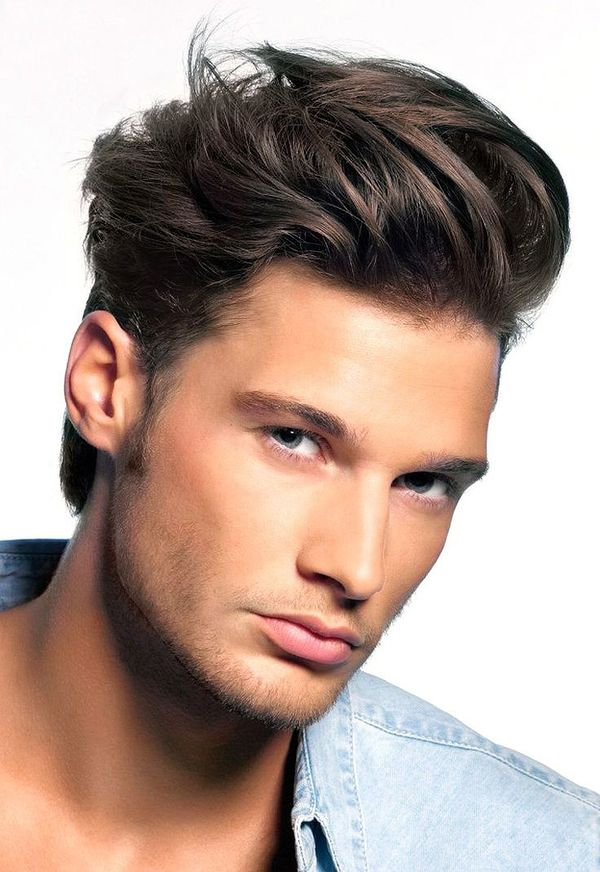 Male Hairstyles with Swept Back Hair 2