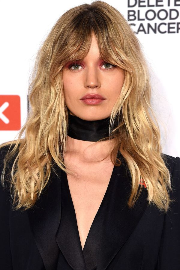 Medium Length Hairstyles with Bangs for Thin Hair 2