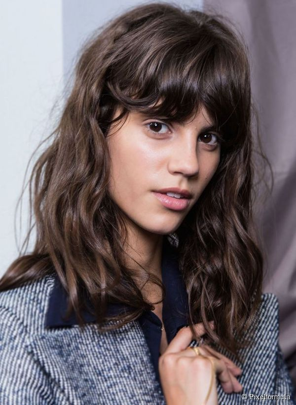 Medium Length Hairstyles with Bangs for Thin Hair 3