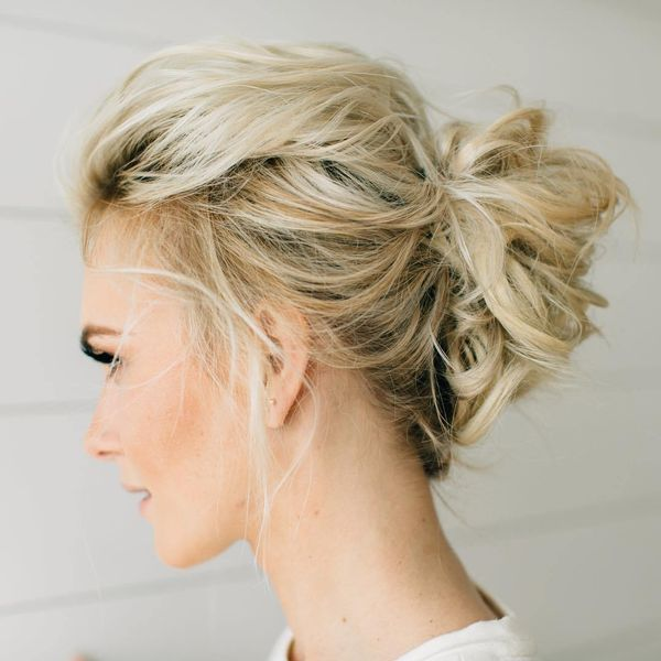 Messy updo hairstyles for prom 1