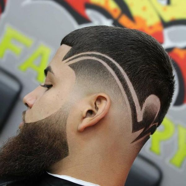 Modern taper fades with designs 3