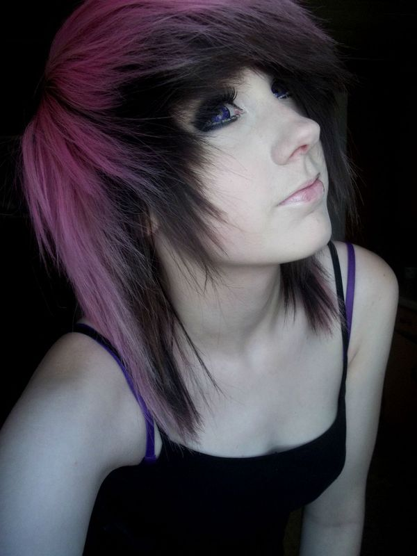 Pretty emo girl hair styles 1