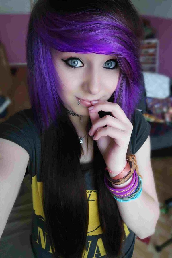 Pretty emo girl hair styles 3