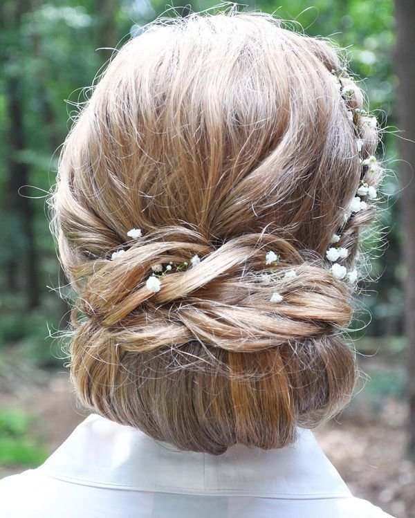 Pretty low bun updos for prom 1