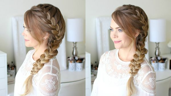 Side braids for long hair 2