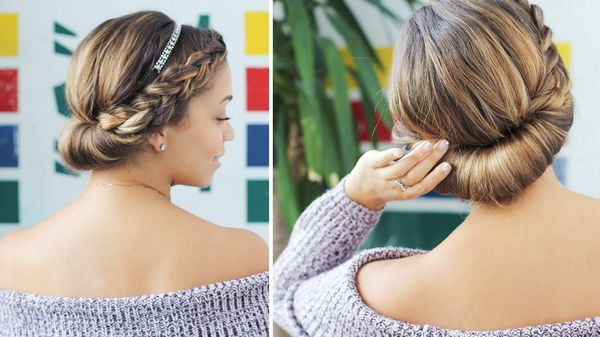 Simple long hair updos for prom 4