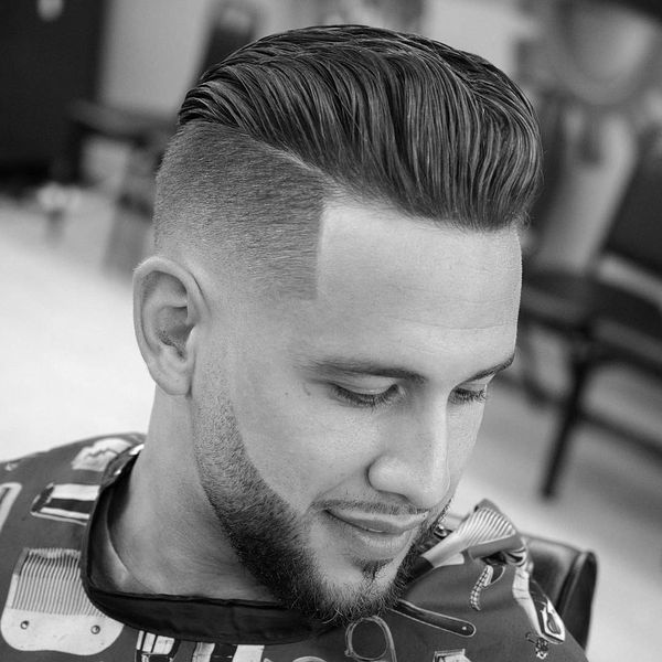 Slick Back Fade Haircut 1