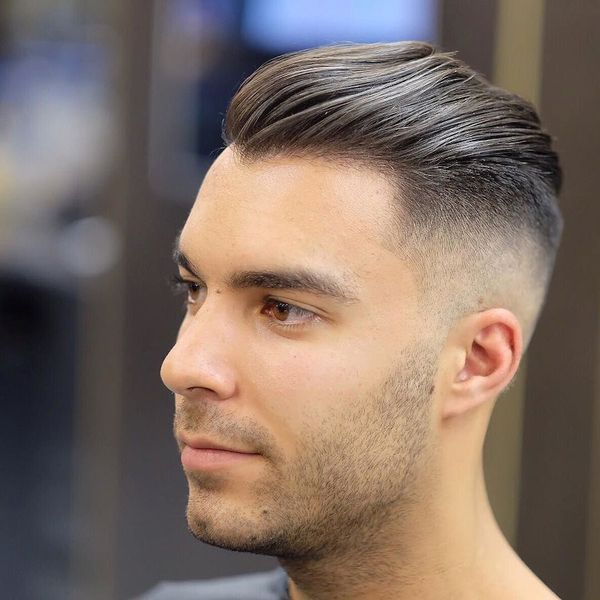 Slick Back Fade Haircut 3