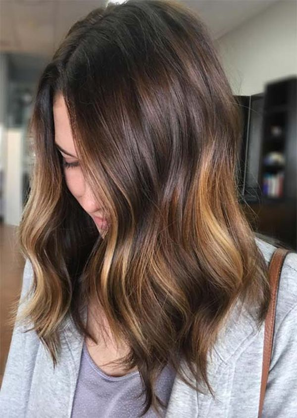 Soft Brunette Balayage Highlights 1