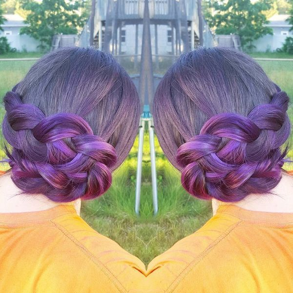 Sophisticated braided prom updos for long hair 1