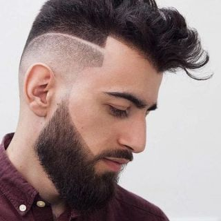 Stylish line up hairline cut for guys 2