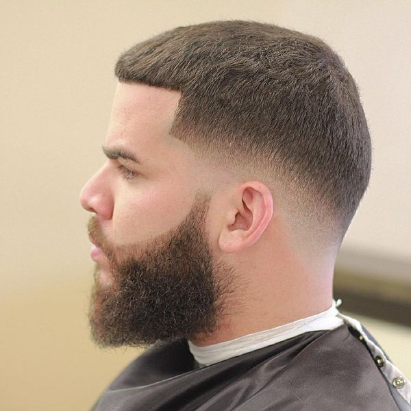 Taper fade line up hairstyle 1