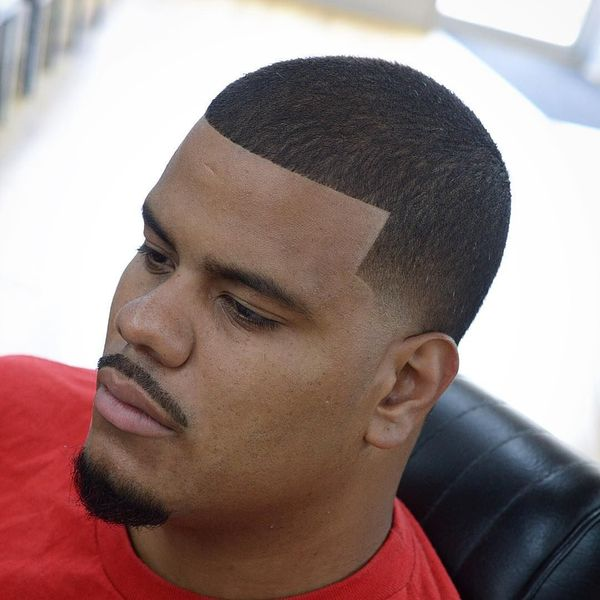 Taper fade line up hairstyle 2
