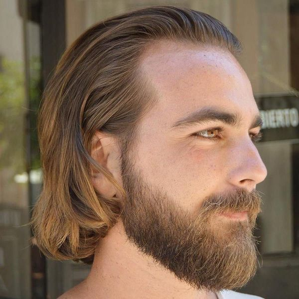 Trendy Hairstyles for Balding Men with Long Hair 4