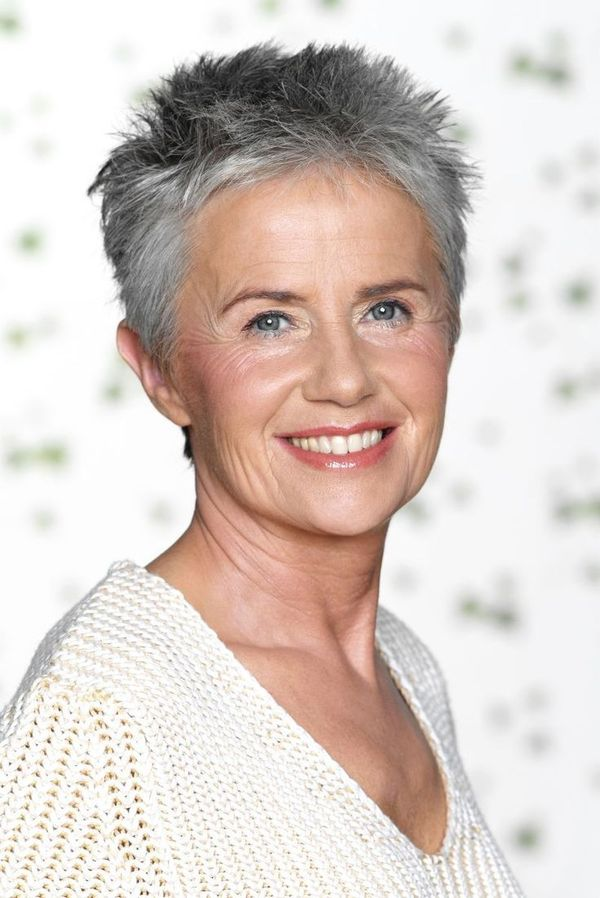 Trendy Short Spiky Haircuts for Women Over 50 3