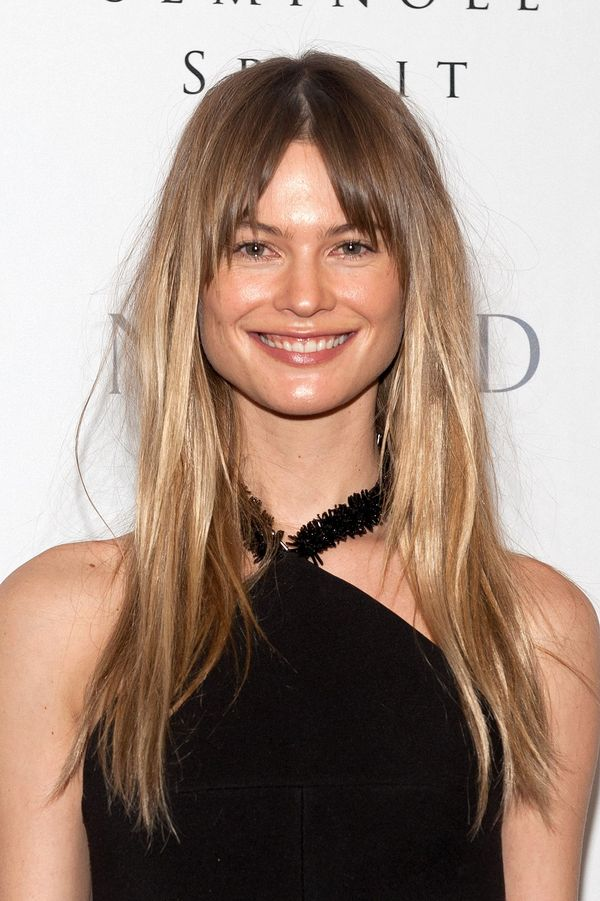 Ideas for long straight hair with bangs 6