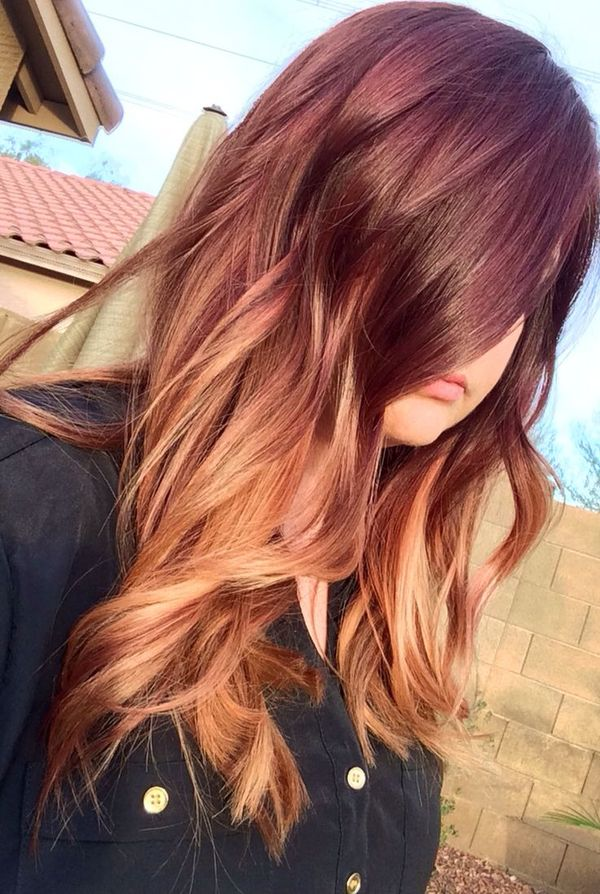 Check These Three Hair Styles With Red Highlights 1