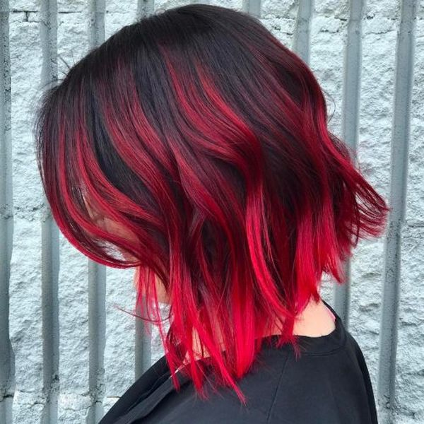 25 Hairstyles With Red Highlights Trending In November 2019