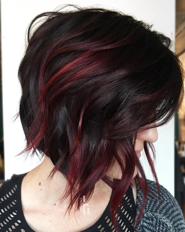 Perfect Cuts For Brunette With Dark Red Highlights 3