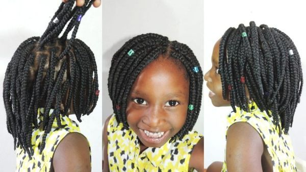 Kids Hair Braided Hairstyles with Beads 2