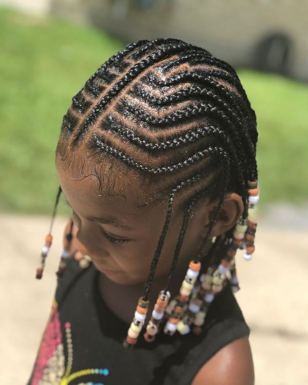 Kids Hair Braided Hairstyles with Beads 1