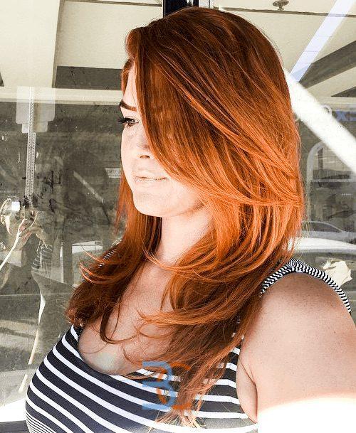 Ginger for Long Hair-Round Face Long Hairstyles Female-female hairstyles #womenhair #womenhairstyles