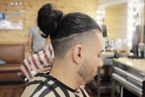 Hair Bun with fade sides