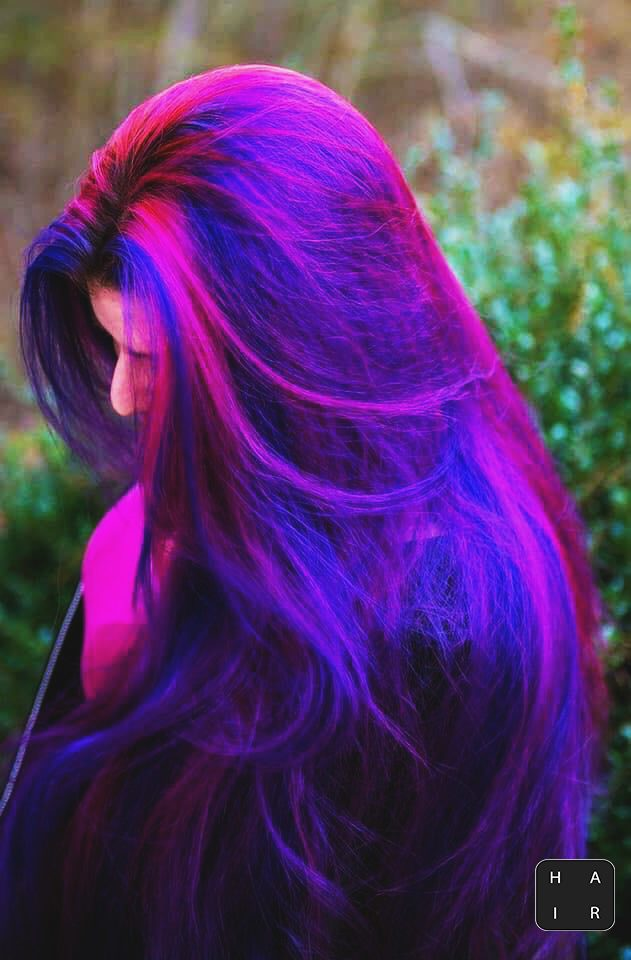 pink and blue hair color-women hair color ideas