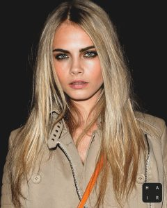 Delevingne's Dirty Blonde Strands