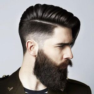 Long Hairstyle + High Beard